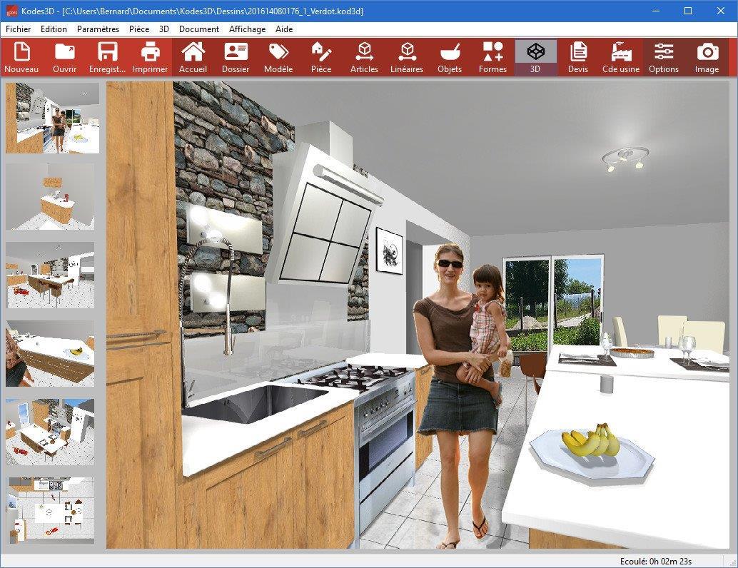 rendu 20 kodes3d logiciels cuisines