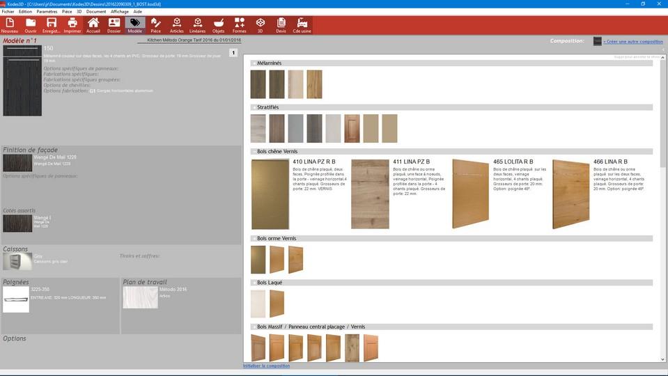 Choice colors kitchen kodes 3d.