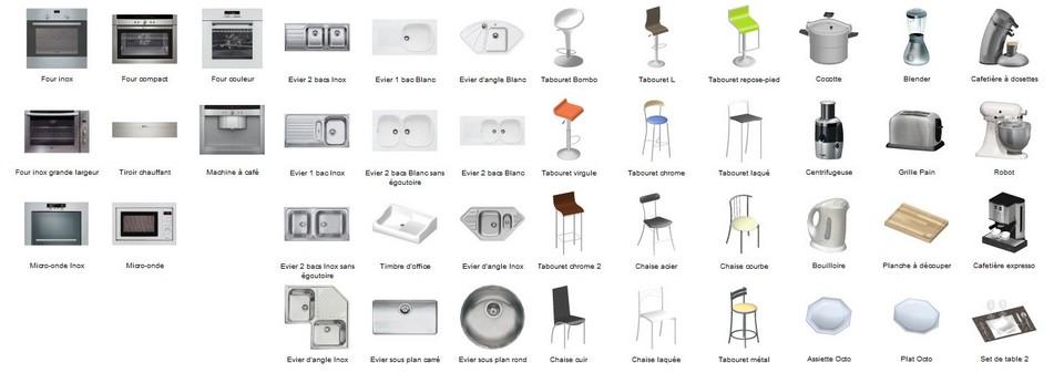 Insert objects 3D software cuisines kodes3d